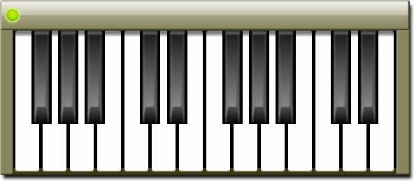 Piano Windows Gadget Screenshot (Big Mode)
