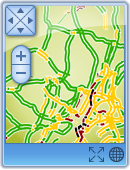 Traffic Info for Windows Gadget Screenshot (Small Mode)
