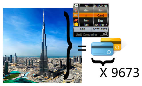 Use Unit Converter Windows Gadget to Calculat Dubai Burj Khalifa